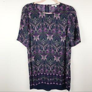 Daniel Rainn Floral Tunic Top Size M